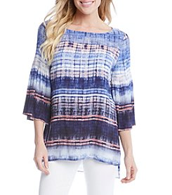 Karen Kane® Stripe Bell Sleeve Tunic Top