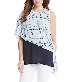 Karen Kane® Blurred Side Tie Blouse