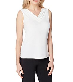 Tahari ASL® Pleated Neckline Top