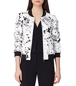Tahari ASL® Printed Collarless Jacket