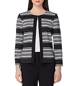 Tahari ASL® Stripe Open Front Jacket