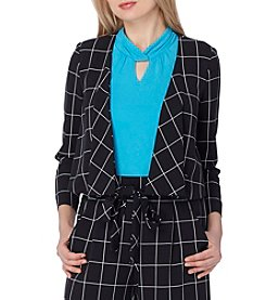 Tahari ASL® Window Pane Jacket