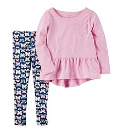 Carter's® Girls' 2T-8 Butterfly Shirt And Leggings Set