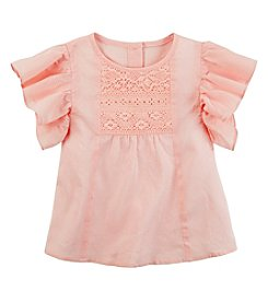 Carter's® Baby Girls' 12-24 Month Short Sleeve Flutter Top