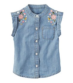 Carter's Girls' 2T-5 Sleeveless Floral EmbroideryTop