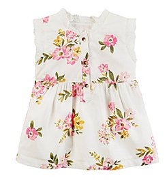 Carter's® Girls' 4-8 Floral Ruffle Neck Top
