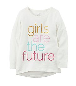 Carter's Girls' 2T-8 Girls Are The Future Long Sleeve Tee