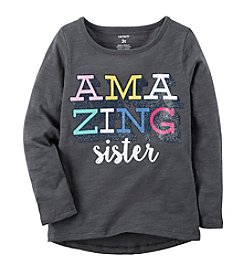 Carter's® Girls' 2T-8 Amazing Sister Long Sleeve Shirt