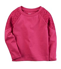 Carter's® Girls' 2T-8 Long Sleeve Crew Neck Shirt