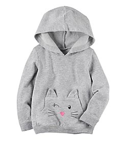 Carter's® Girls' 2T-8 Long Sleeve Kitty Hoodie