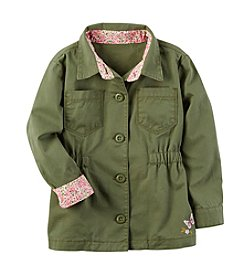 Carter's® Girls' 2T-8 Floral Trim Jacket