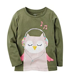 Carter's Girls' 2T-8 Owl Long Sleeve Tee