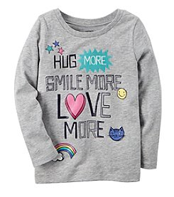 Carter's® Girls' 2T-8 Long Sleeve Hug More Tee Shirt