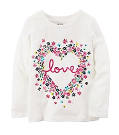 Carter's Girls' 2T-8 Multi Floral Love Tee Shirt