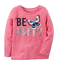 Carter's® Girls' 2T-8 Be Happy Long Sleeve Tee