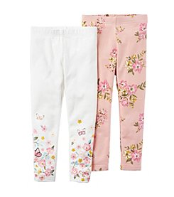 Carter's® Girls' 2T-4T Pack Floral Leggings