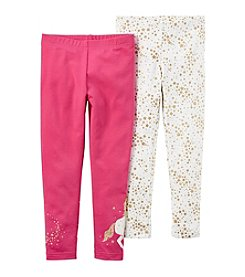 Carter's Girls' 2T-4 Unicorn Foil Star Leggings