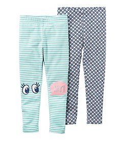 Carter's Girls' 2T-7 Eyes and Yay Leggings Set