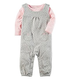 Carter's Baby Girls' 2 Piece Babysoft Coverall Set