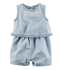 Carter's® Baby Girls' Layered Chambray Romper