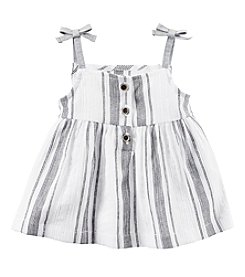 Carter's® Baby Girls' Striped Tie Tank