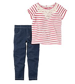 Carter's® Baby Girls' 2-Piece Shirt and Leggings Set