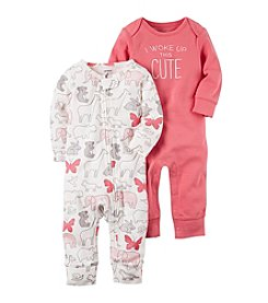 Carter's® Baby Girls' 2-Pack Coveralls