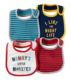 Carter's Baby Boys' 4-Pack Multi Striped Bibs