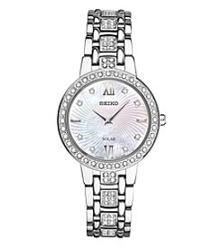 Seiko® Women's Silvertone Crystal Collection Watch