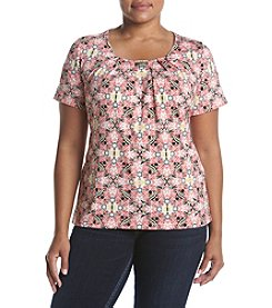 Studio Works® Plus Size Printed Hardware Tee