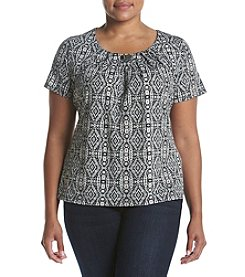 Studio Works® Plus Size Hardware Printed Tee