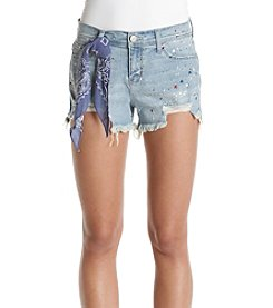 Hippie Laundry Paint Splatter Shorts