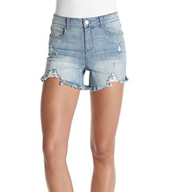 Hippie Laundry Fray Hem Destructed Shorts