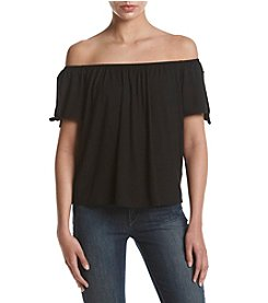 no comment™ Tie Sleeve Off Shoulder Top