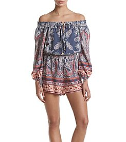 Living Doll® Printed Off Shoulder Romper