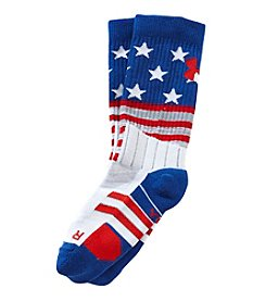 Under Armour® Boys' Stars And Stripes Crew Socks