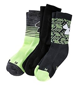 Under Armour® Boys 3-Pack Phenom Crew Socks