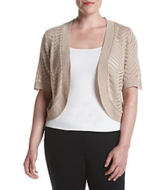 Nina Leonard Plus Size Shrug