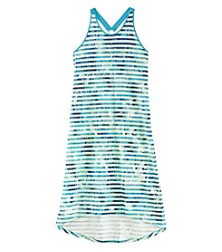 DKNY Girls' 7-16 Printed Sleeveless Dress