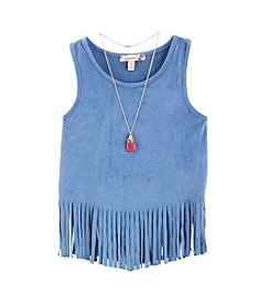 Speechless® Girls' 7-16 Fringe Top