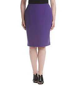Kasper® Plus Size Stretch Crepe Skirt