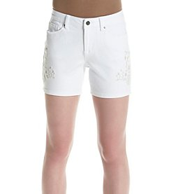 Earl Jean® Embroidered Shorts