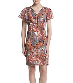 Prelude® Zip Front Paisley Printed Dress