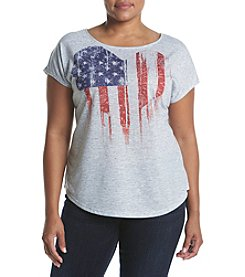 Oneworld® Plus Size Luv Heart Flag Tee