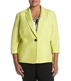 Kasper® Plus Size Linen Button Jacket