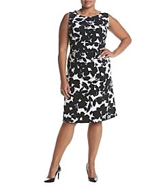 Kasper® Plus Size Printed Sheath Dress