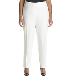 Nine West® Plus Size White Slim Pants