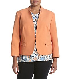 Nine West® Plus Size Stand Collar Stretch Jacket