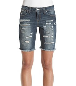 Crave Fame Slash Destruct Bermuda Shorts