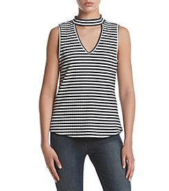 Sequin Hearts® Striped Choker Top
